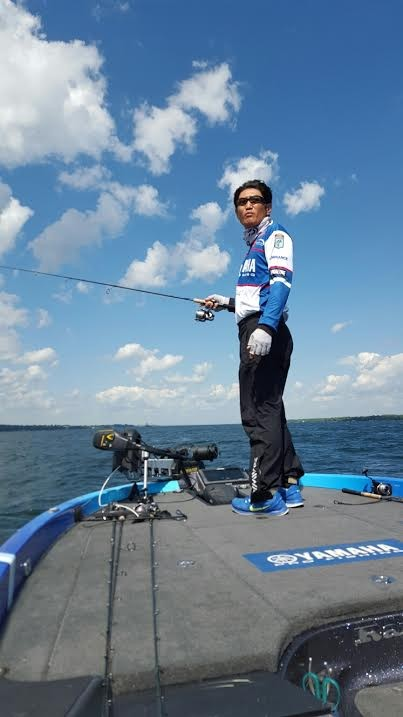 The final push for Omori. Photo by Bassmaster staff