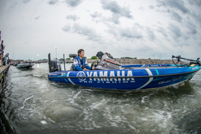 Make sure to tune into Bassmaster LIVE to follow the top anglers today on the water and see who is going to make the final cut here at the 4th stop of the Bassmaster Elite Series season on Lake Wheeler. Photo: Garrick Dixon