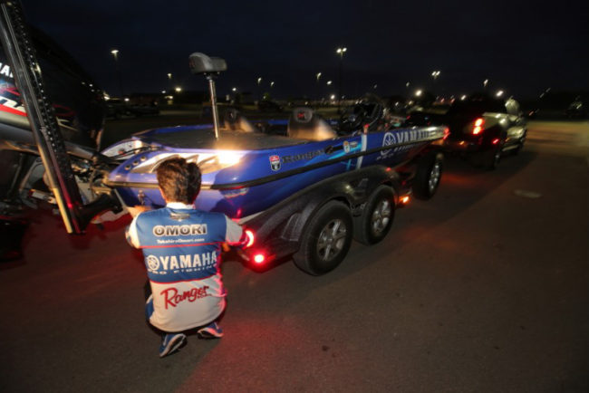 Follow 2004 Bassmaster Classic champion Takahiro Omori on the final morning of the Academy Sports + Outdoors Bassmaster Elite at Wheeler Lake event! Photo: Seigo Saito